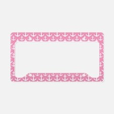 Pink Anchor Nautical License Plate Holder