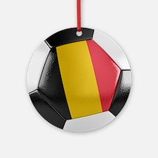 Belgium Soccer Ball Ornament (Round)
