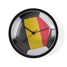Belgium Soccer Ball Wall Clock
