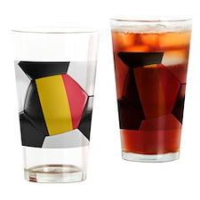 Belgium Soccer Ball Drinking Glass