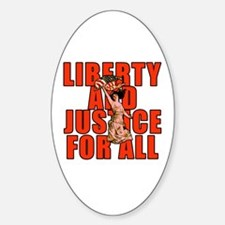 Liberty and Justice Oval Decal