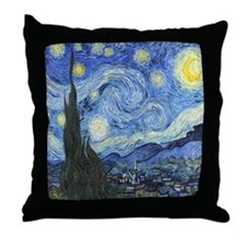Van Goghs Starry Night Throw Pillow