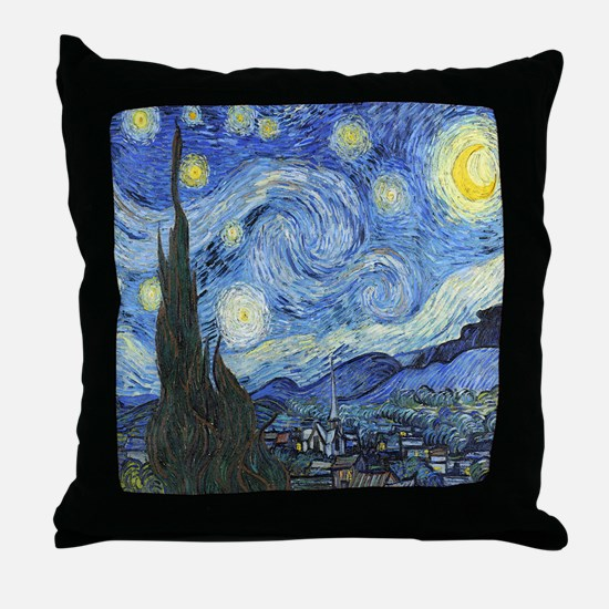 Van Goghs Starry Night Throw Pillow