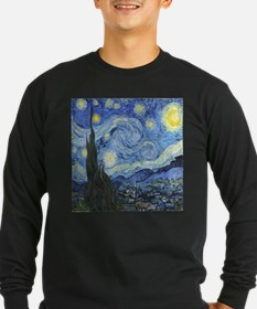 Van Goghs Starry Night Long Sleeve T-Shirt