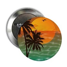 """Palm Trees Sunset 2.25"""" Button"""