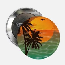 "Palm Trees Sunset 2.25"" Button"