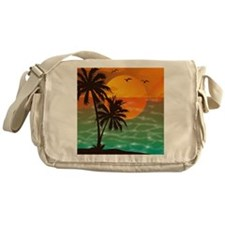 Palm Trees Sunset Messenger Bag