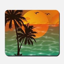 Palm Trees Sunset Mousepad