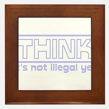think.png Framed Tile