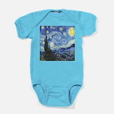 Van Goghs Starry Night Baby Bodysuit