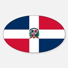 The Dominican Republic Oval Decal