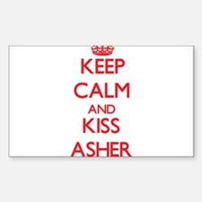 Keep Calm and Kiss Asher Decal