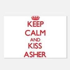 Keep Calm and Kiss Asher Postcards (Package of 8)