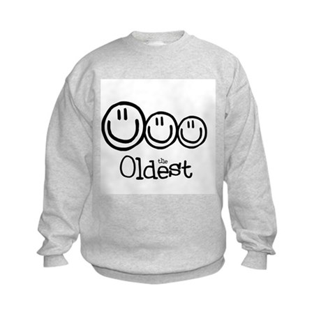 The Oldest (3) Kids Sweatshirt