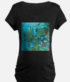 Water Lilies by Monet Maternity T-Shirt