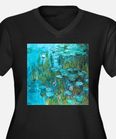Water Lilies by Monet Plus Size T-Shirt