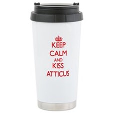 Keep Calm and Kiss Atticus Travel Mug