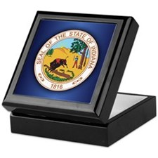 Indiana Seal.png Keepsake Box