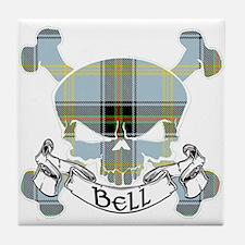 Bell Tartan Skull Tile Coaster