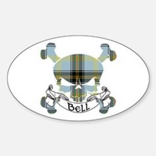 Bell Tartan Skull Decal