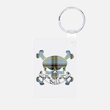 Bell Tartan Skull Keychains