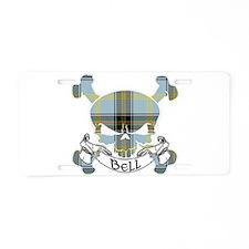 Bell Tartan Skull Aluminum License Plate