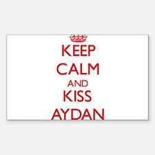 Keep Calm and Kiss Aydan Decal