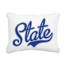 State Script Font Rectangular Canvas Pillow