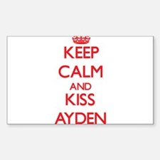 Keep Calm and Kiss Ayden Decal