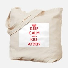 Keep Calm and Kiss Ayden Tote Bag