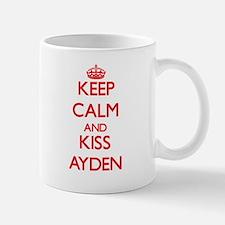 Keep Calm and Kiss Ayden Mugs