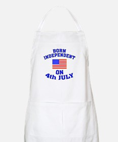 July 4 Born Independent BBQ Apron