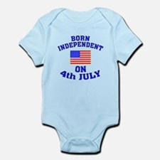 July 4 Born Independent Infant Bodysuit