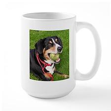 entlebucher mountain dog w ball Mugs