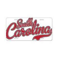 USC South Carolina Script Aluminum License Plate