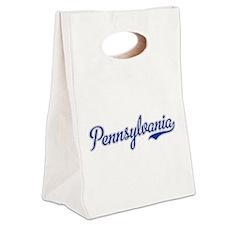 Pennsylvania Script Font Canvas Lunch Tote