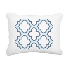 Light Blue Quatrefoil Pa Rectangular Canvas Pillow