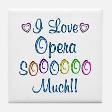 Opera Love So Much Tile Coaster
