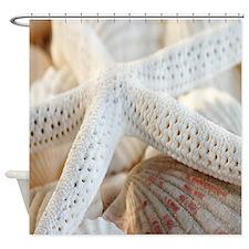 Beautiful Starfish Seashells Shower Curtain