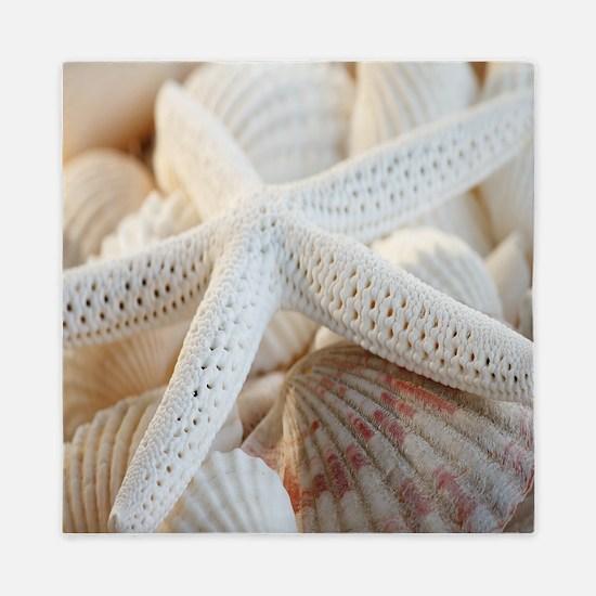Beautiful Starfish Seashells Queen Duvet