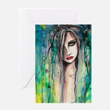 Face in Paint Beautiful Woman Abstract Watercolor