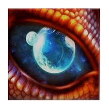 dragon eye 3.0 Tile Coaster
