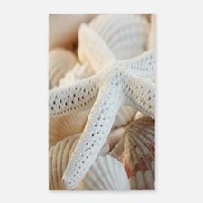 Beautiful Starfish Seashells 3'x5' Area Rug