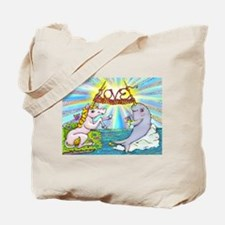 Narwhal and Unicorn Knitting Love Together Tote Ba