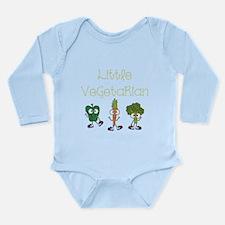 Little Vegetarian Long Sleeve Infant Bodysuit
