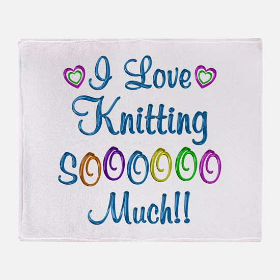Knitting Love So Much Throw Blanket