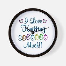 Knitting Love So Much Wall Clock
