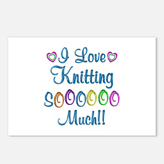 Knitting Love So Much Postcards (Package of 8)