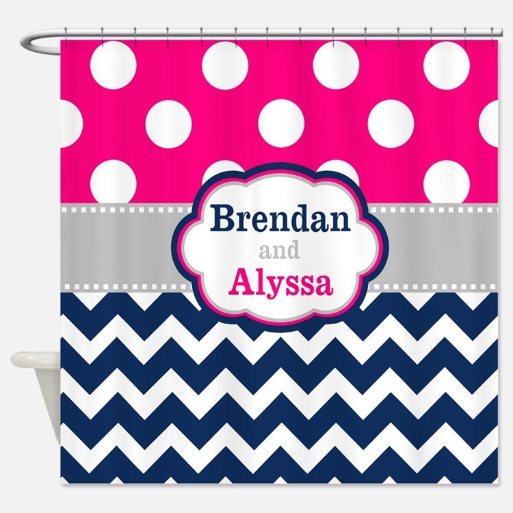 Pink And Blue Shower Curtains Pink And Blue Fabric Shower Curtain Liner
