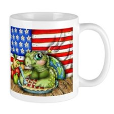 Patriotic Turtle Mugs